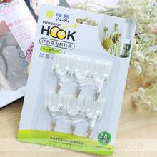 白色强力粘钩塑料挂钩(6个装)